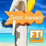 Heute schon gebucht? Mach mit bei unserem Buchungswettbewerb mit der FTI Group!
